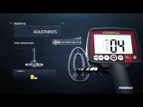 Fisher Research Labs F44 the Ultimate Multi-Purpose  Weatherproof Metal Detector