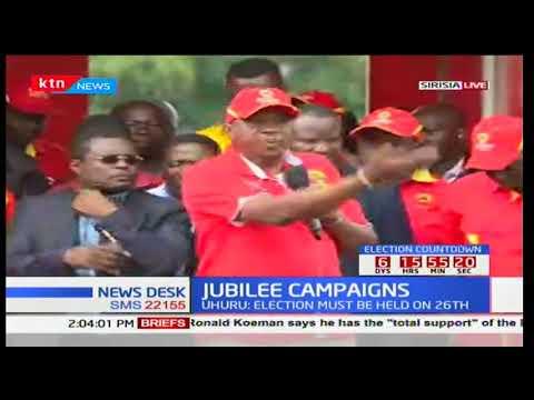 President Uhuru Kenyatta addresses Bungoma residents during campaign rally