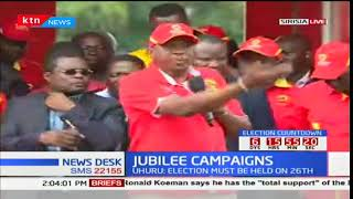 President Uhuru Kenyatta addresses Bungoma residents during campaign rally