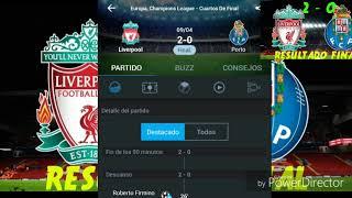Resultado Final Liverpool Vs Porto , Juego De Ida De La Champions