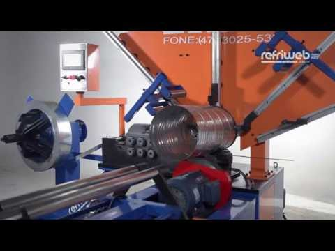Máquina Refriweb- DR2C1 - Duto Circular do tipo Emenda Helicoidal Tubo Redondo Espiral