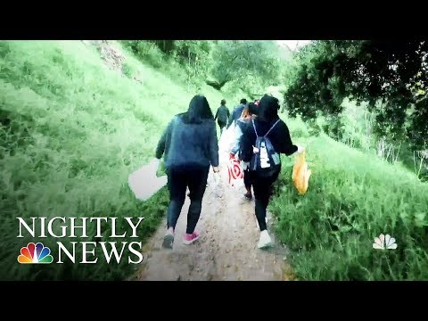 What Is Plogging? Growing Movement Of Joggers Picking Up Trash | NBC Nightly News