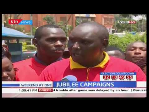 Jubilee leaders in Nyeri launch campaigns for the re-election of President Uhuru Kenyatta