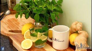 How to make fresh mint tea /wonderfully hot drink (peppermint tea)