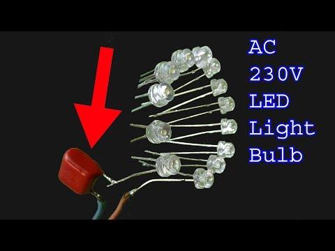 How to make Led light bulb,230V AC led light diy bulb