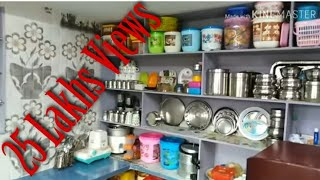 My Small N Simple Kitchen Organization||Small Indian Kitchen Tour 2 Million +Views @GT HOMES