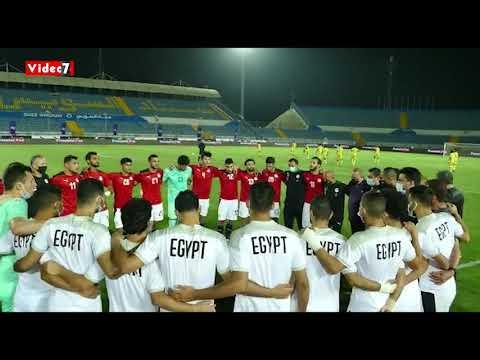 رمضان صبحي يحصن لاعبي المنتخب الاولمبي بالدعاء قبل ودية جنوب إفريقيا