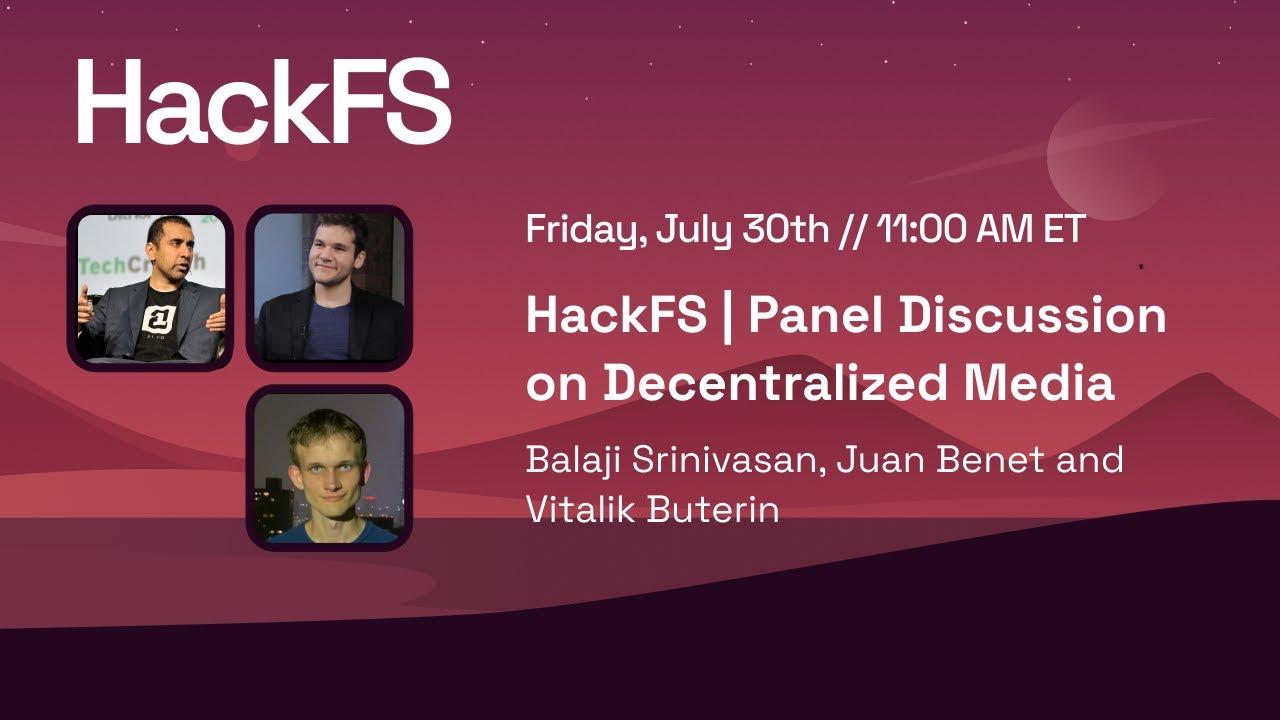Decentralized Media, a panel with Balaji Srinivasan, Juan Benet, and Vitalik Buterin