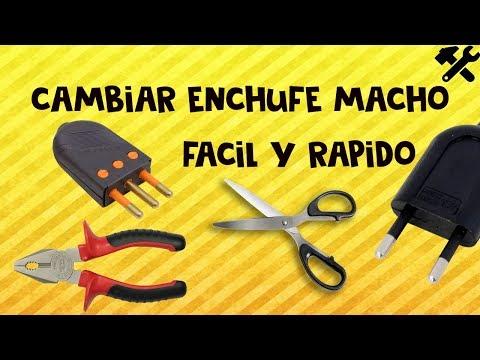 Como cambiar enchufe de algún artefacto | Radio tele cargador etc. | Macho.