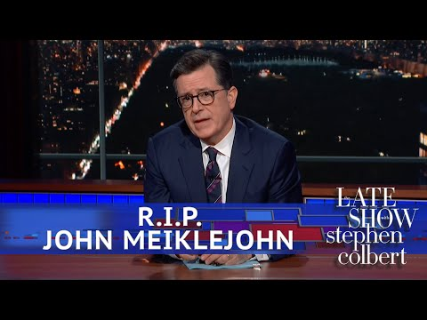 Stephen Colbert's Obituary to His Longtime Cameraman, John Meiklejohn
