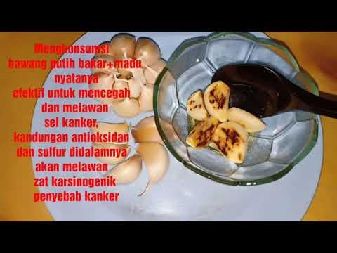 Bawang putih bakar + madu untuk mengobati kanker dan stamina bagi pria dewasa