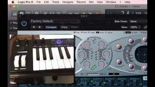 設定/使用 MIDI 鍵盤上的旋鈕/Fader/按鍵來控制 Logic Pro