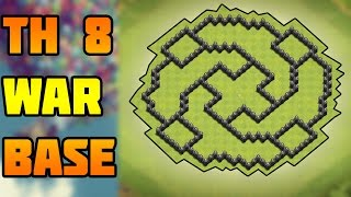 Clash of Clans  Town hall 8 (Th8) War Base - Anti Everything - Anti 3 Star - 2016