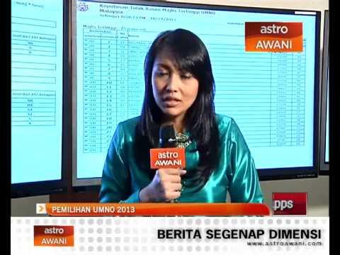 Laporan terkini pemilihan UMNO 9:00pm