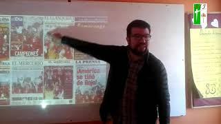Francisco Castillo visita alumnos del Taller de periodismo.