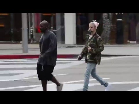 Justin Bieber strolls along Rodeo Drive with Corey Gamble