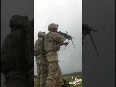 Американский солдат едва не расстрелял сам себя (видео)