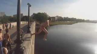 Jumps In Boston On Weeks Bridge