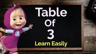 Table of 3, Multiplication Table of 3, 3 ka table, 3 ka pahada, Maths table