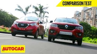 Renault Kwid VS Datsun Redigo | Comparison Test | Autocar India