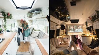UNIQUE, MODERN & SECURE VAN CONVERSION 🚐 // WiFi SECURITY CAMERAS, HIDDEN SAFE & EPIC HOME CINEMA by Nate Murphy