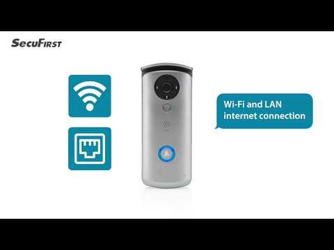 SecuFirst draadloze WiFi deurbel met camera DID501