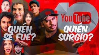Cómo ha cambiado el top de canales más suscritos en youtube a lo largo de 10 años #Anecdotario