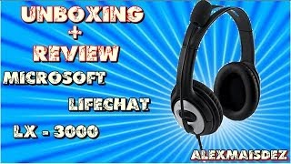 Unboxing e Review Microsoft LifeChat LX 3000 + Test Gameplay HD 1080p