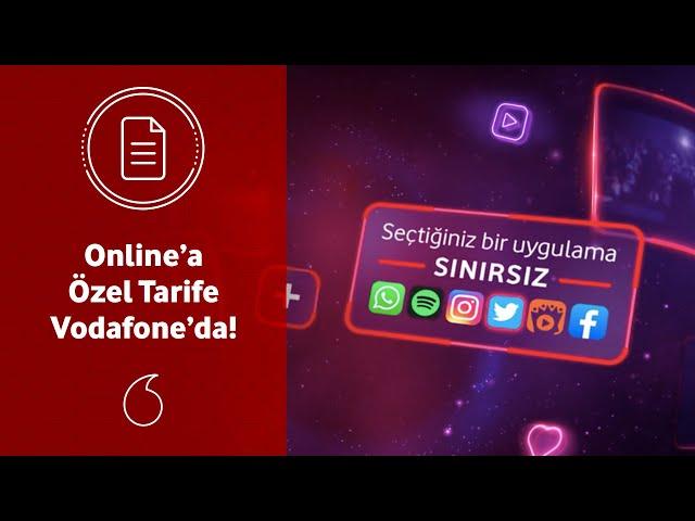 Vodafone.com.tr'ye girip Vodafone'lu olanlara özel online tarife!