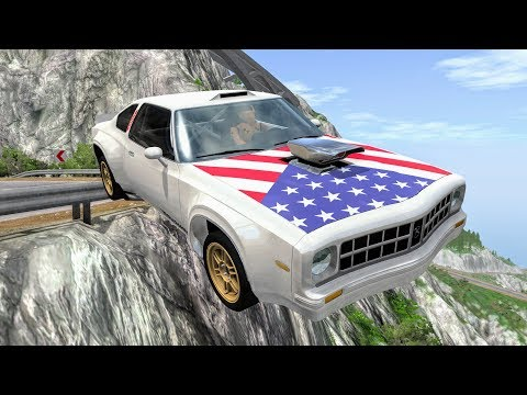 Realistic Cliff Drops #4 - BeamNG Drive Crashes | CrashBoomPunk