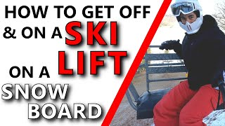 How To Get Off A Ski Lift On A Snowboard | Learn How To Snowboard | Part 4