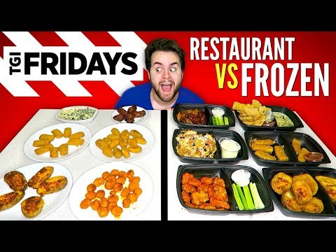 TGI FRIDAY'S APPETIZERS vs. FROZEN VERSION – Restaurant Taste Test!