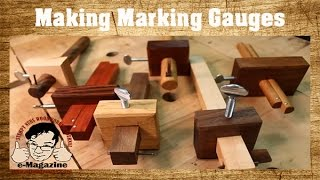 3 Easy to Make Homemade Woodworking Marking Gauges (Mortise/Cutting)