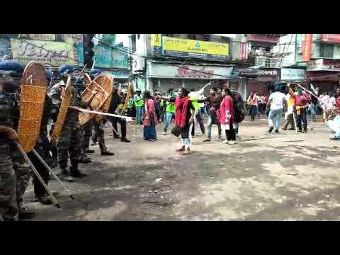 নবান্ন অভিযানে নির্মম পুলিশি হামলা