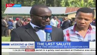 The last salute as Sergent James Kobia and his two sons laid to rest in Meru County