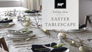 An Easter Table With Linen