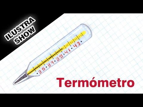 Como dibujar y colorear un TERMÓMETRO Hospital Laboratorio Temática ciencia ILUSTRA SHOW