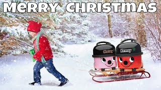 ⛄ MERRY CHRISTMAS FROM HENRY HOOVER TV Family ~ We Took our Mini Vacuum Cleaners SLEDGING in SNOW ❄