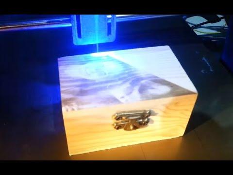 3dpBurner  3D printed laser cutter/engraver by villamany