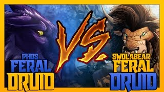 RUMBLE #22 - FERAL (Phos) VS FERAL (Swolabear) | world of warcraft