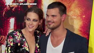 Тэйлор Лотнер, (VIDEO) Kristen Stewart - Taylor Lautner HOT COUPLE At The American Ultra Premiere
