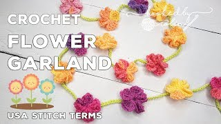 Crochet Simple Flower Garland | Easiest Crochet Garland | Crochet Flowers | Stash Busting!