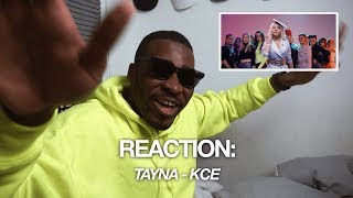 REACTION | TAYNA - KCE (OFFICIAL MUSIC VIDEO) | BABATUNDE