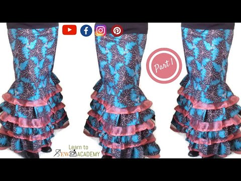 Tiered Multi-Layered Pencil Skirt - Part 1