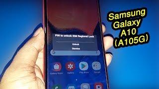 Samsung Galaxy A10 2019 SM-A105G/DS Network & Sim Unlock Done