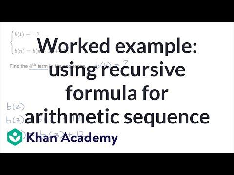 recursive formula khan academy