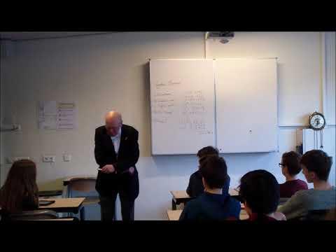 25 januari 2018 Gastles aan het Scala college Alphen aanh den Rijn, klas 3