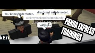 TROLLING AT PANDA EXPRESS TRAININGS *FIRED!*  ROBLOX