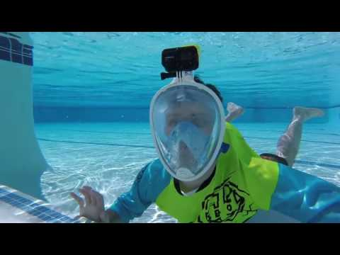 Quicklook Review  NEOpine's GoPro Snorkel Mask NDM-1 Underwater Swimming Product Testing