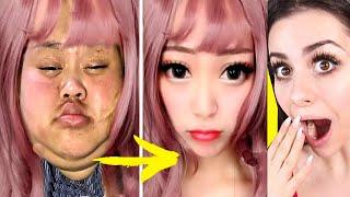 Viral Asian MAKEUP TRANSFORMATION Tutorial !